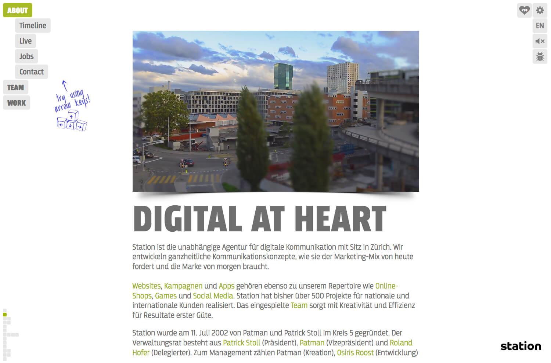 Roger Burkhard ~ Development + Interaction Design   Station